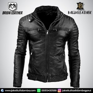 Jual Jaket Kulit Asli Garut Pria Domba Original Brida Leather B36   WA 08813430588