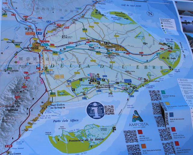 Mapa del Delta del Ebro