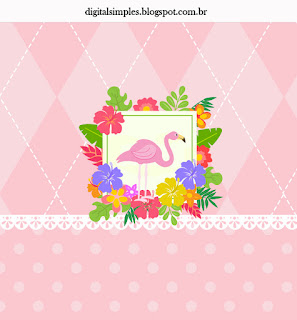 Flamingo: Free Printable Candy Bar Labels and Invitation.