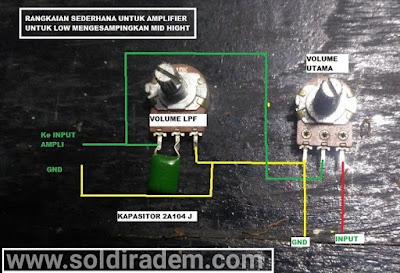 Membuat Volume Power Amplifier Dengan LPF
