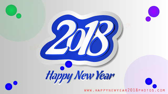 Happy New Year 2018 3d photos