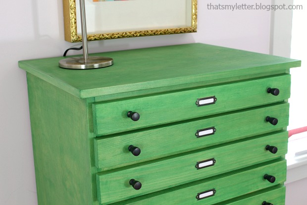 Dresser makeover using color stain