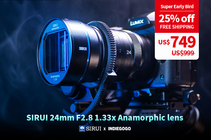SIRUI Launch 24mm F2.8 1.33x Anamorphic Lens in Micro Four Thirds, Sony E, Canon EF-M, Nikon Z and Fujifilm X Mounts