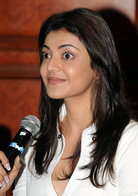 Indian Actress Kajal Agarwal Stunning Hot Pics In White Dress - actressbuzz.com