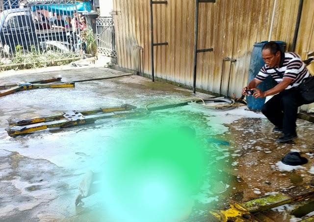 Tabung Kompresor Semprotan Sabun Salju Tempat Cuci Mobil Meledak Dahsyat, Satu Orang Meninggal   Kota Samarinda