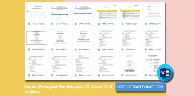 Contoh Perangkat Pembelajaran TK-A dan TK-B Lengkap