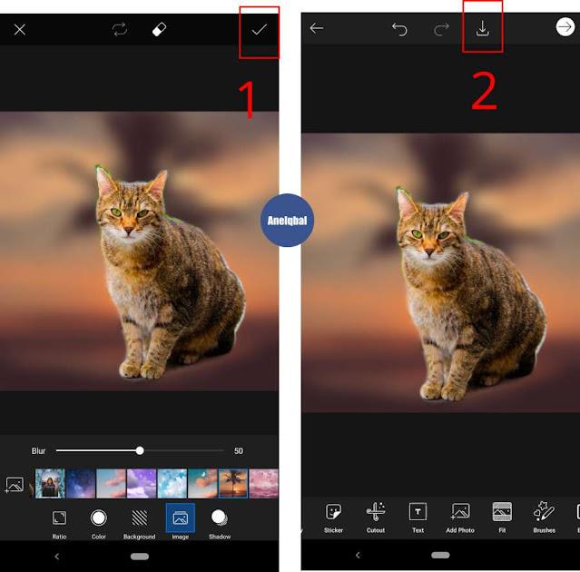 cara menghilangkan background foto di picsart