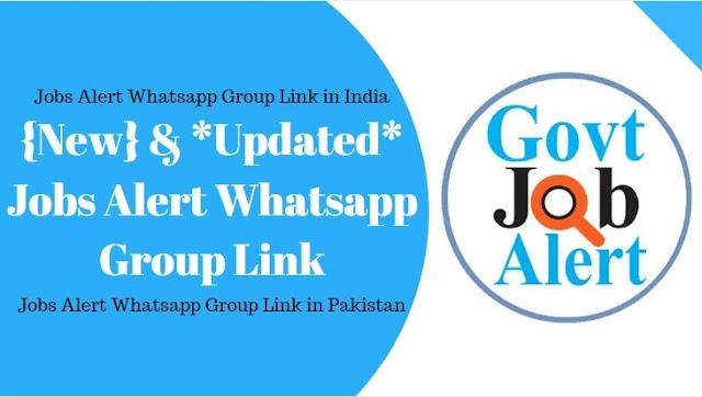 Jobs Alert Whatsapp Group Link 2020
