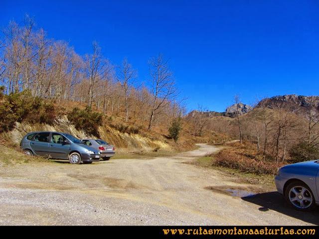 Ruta al Pico Pierzu: Alto de la Llamarga, inicio de ruta