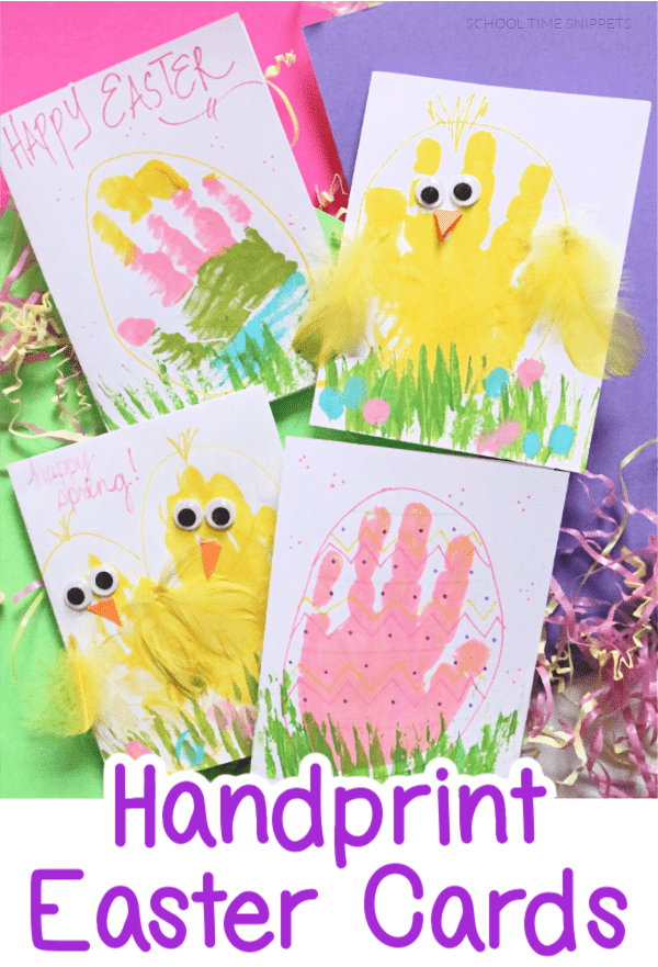 HANDPRINT EASTER CARDS