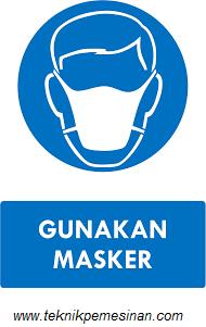 gambar penggunaan masker saat bekerja dengan mesin gerinda
