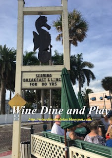 The Seahorse Restaurant in Pass-A-Grille, Florida is a busy spot that requires a waiting area