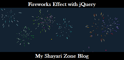 Add Fireworks or Crackers Animation Effect in Blogger with jQuery