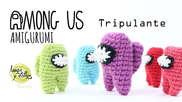 Aprende a tejer los tripulantes de Among Us a crochet en una hora