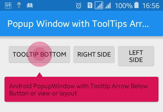 Android Example: How to Create Tooltip View with Arrow in Android