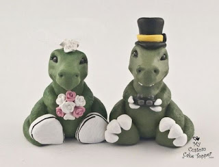 Perfect Dinosaur Wedding Cake Topper