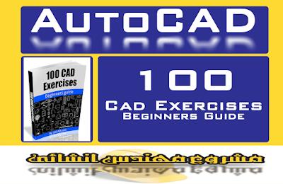 كتاب PDF تعلم AutoCad به 100 تمرين