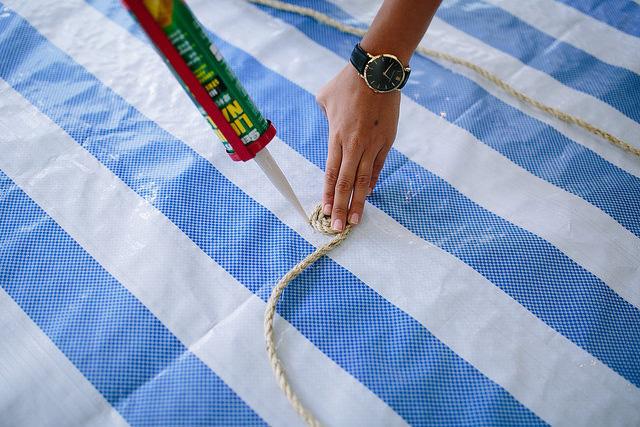 DIY: Alfombra redonda de fibra natural