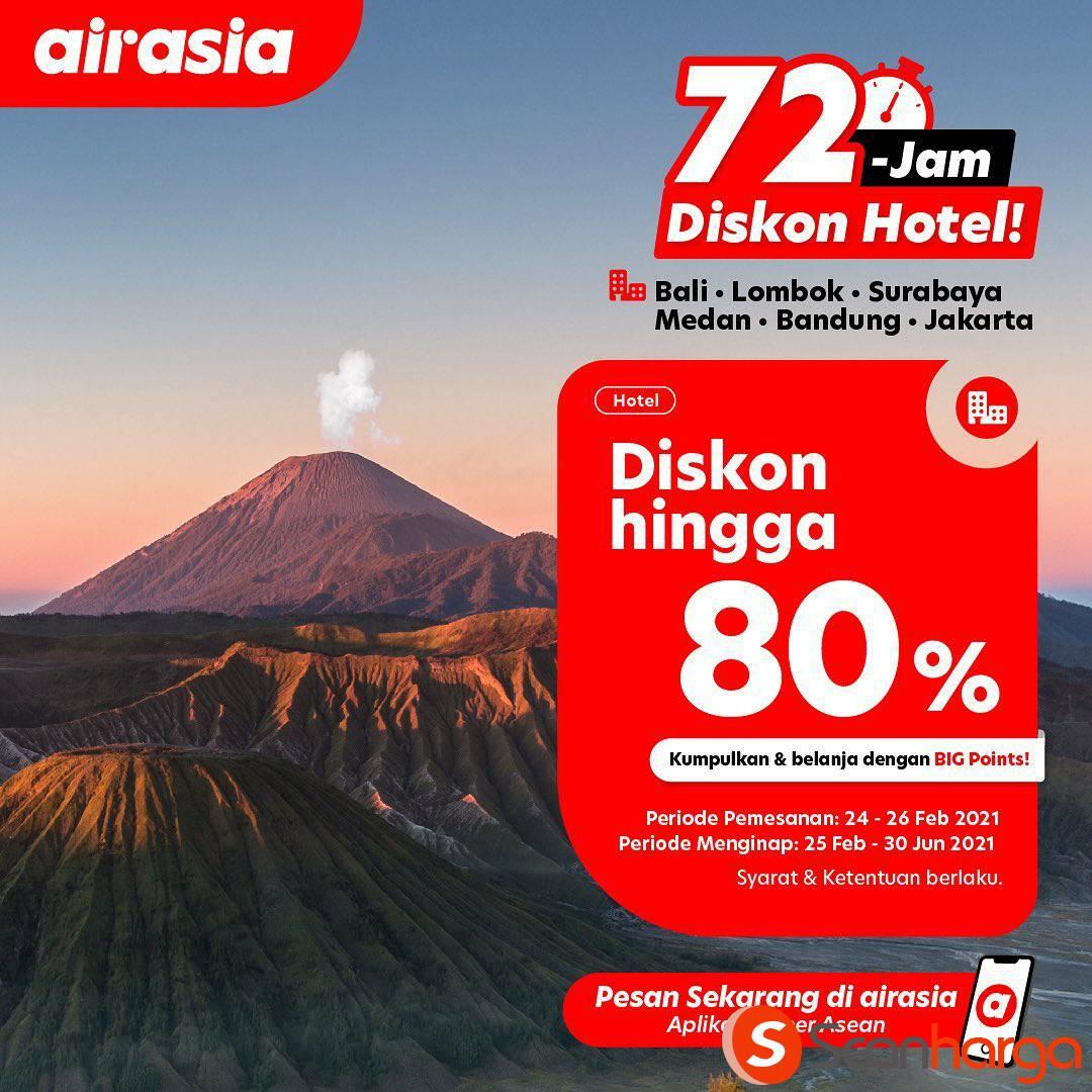 Promo AIRASIA HOTEL 72 JAM SALE – Spesial DISKON hingga 80%