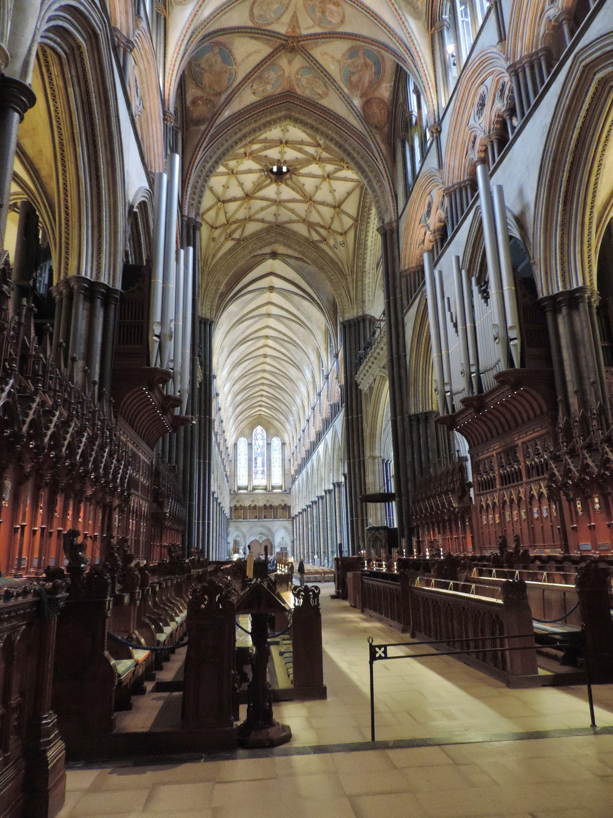 main west nave of salisbury cathedral