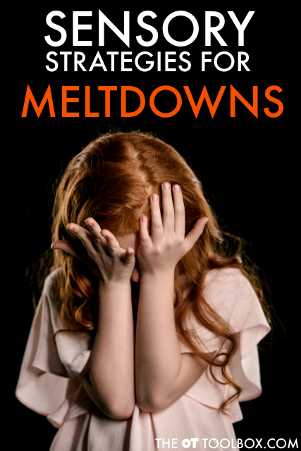 Tricks and tips to help kids with meltdowns. These are sensory based strategies that can help kids overcome meltdowns by using a plan.