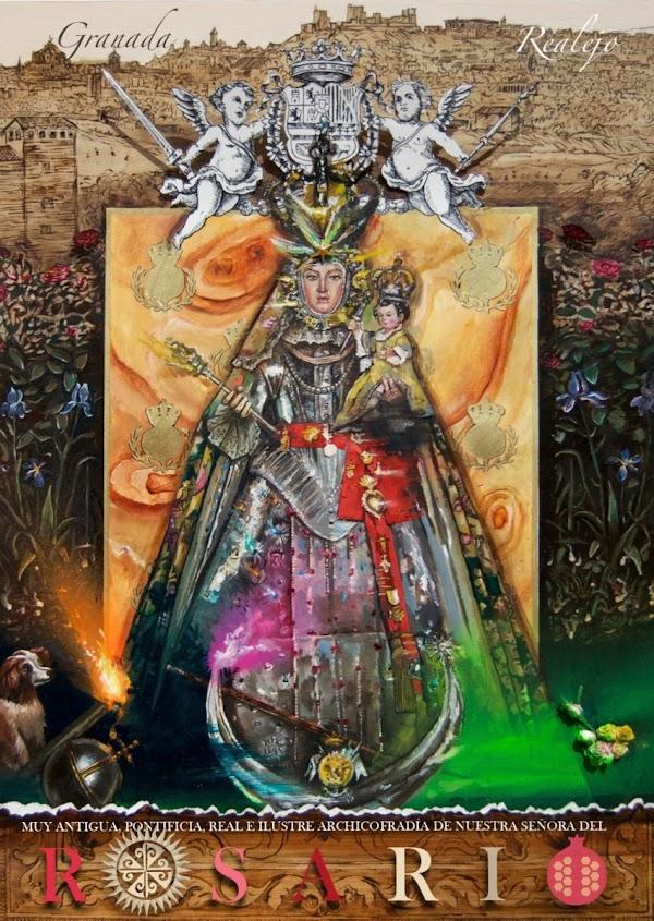 Cartel de la Virgen del Rosario de Granada