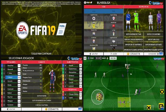 Anda jangan lupa untuk Unduh juga file  Download FTS 15 Mod FIFA 19 Europe by FTSPlay Update