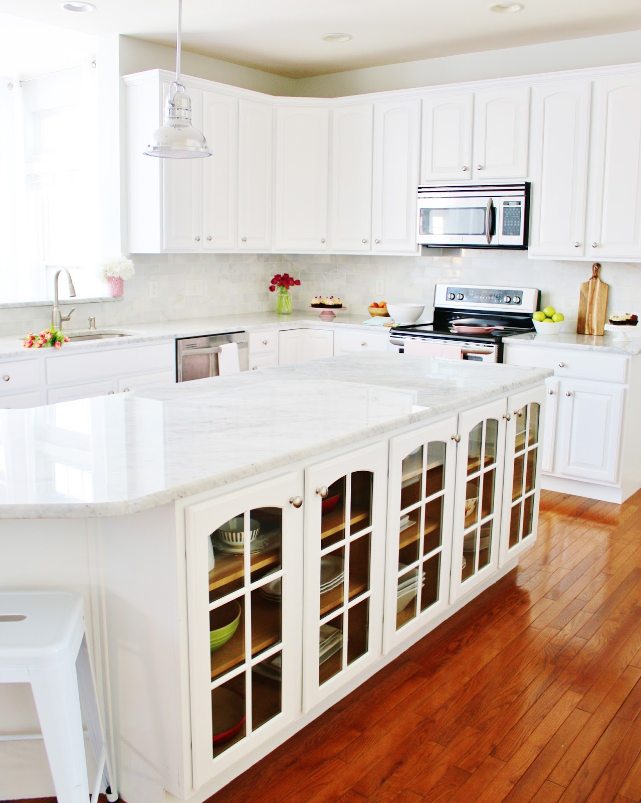 My Simple Modest Chic: Our DIY white Kitchen Makeover