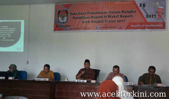 KIP Aceh Singkil Sosialisasikan Tata Cara Pencalonan Bupati dan Wakil Bupati