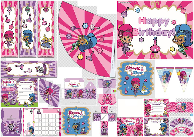 Shimmer and Shine Party Free Printable Kit.
