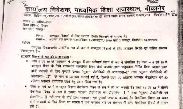 Rajasthan-Computer-teacher-requirement-eligibility-syllabus-job