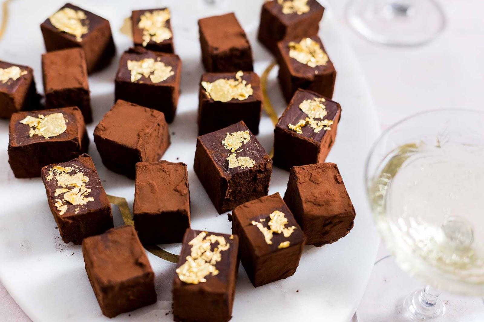 Champagne Chocolate Truffles