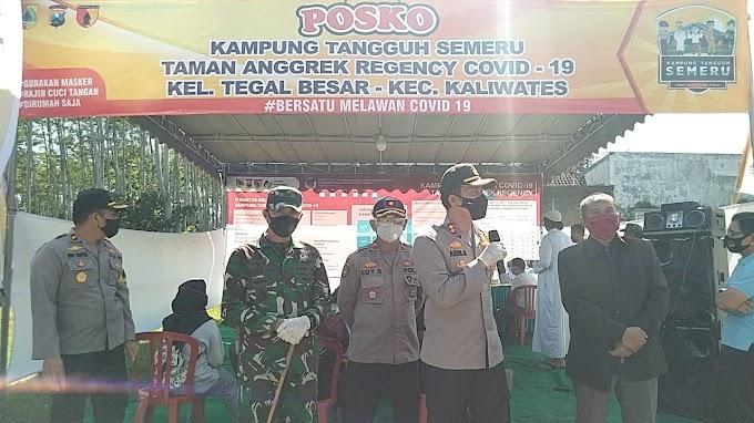 Sinergisitas  ,Kampung Tangguh Semeru  Perm, Taman Anggrek Kecamatan Kaliwates Hadir Kapolres, Bersama Dandim 0824.