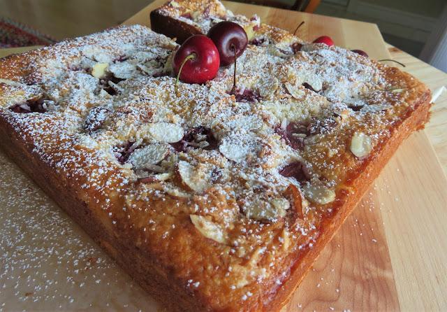 Cherry, Coconut & Almond Snack Cake