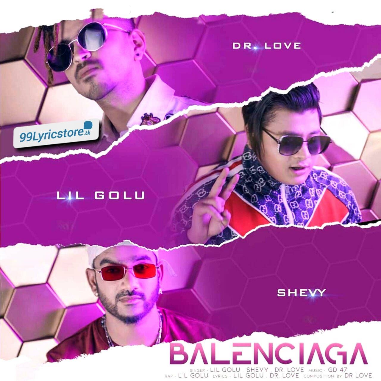 Balenciaga Song Lyrics Sung By Lil Golu ,Shevy,Dr Love