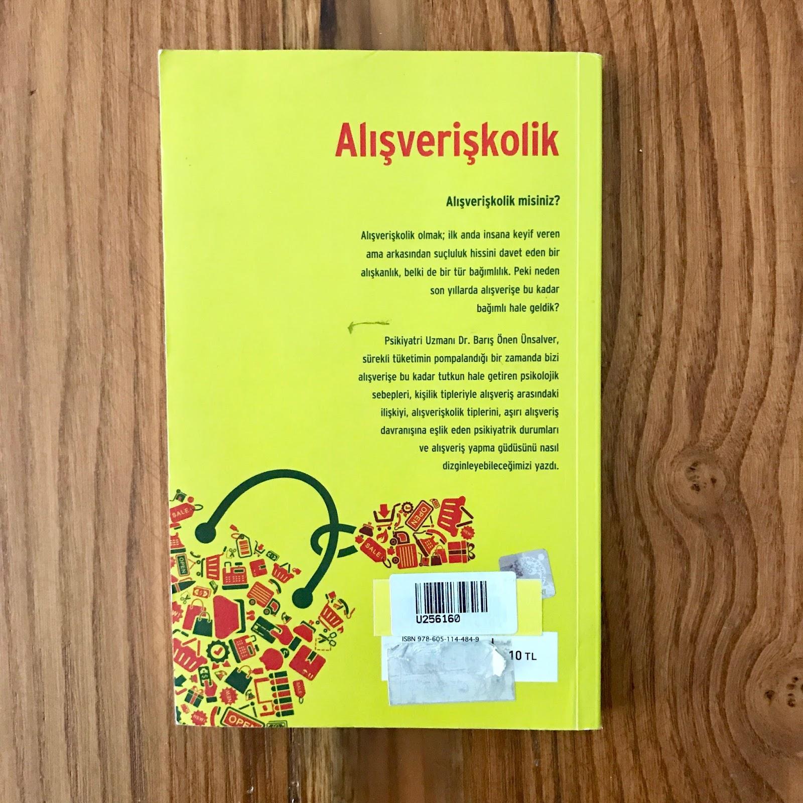 Alisveriskolik - Tuketirken Tuketen Takinti (Kitap) Arka Kapak