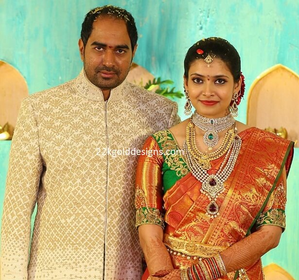 Telugu Director Krish Wife Engagement Jewellery