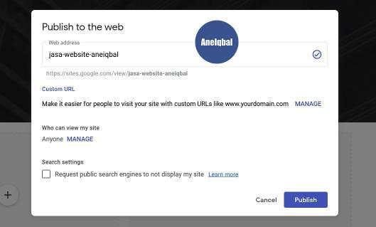 cara membuat website gratis di google