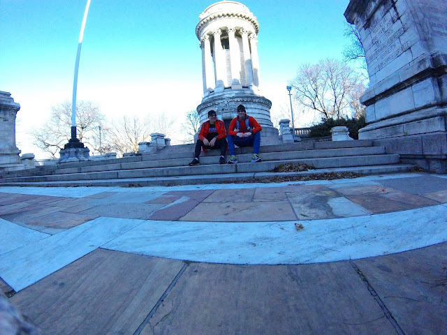 19 mile run, Strava, NYC Running, Manhattan Run, Race around New York, NYC, New York City, GoPro, NYC Monument, Running Buddies
