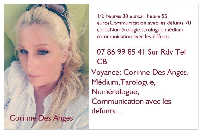 1320c45a15eaf2 Voyance  Corinne Des Anges. Médium,Tarologue, Numérologue, Communication  avec les défunts... 07 86 99 85 41 sur rdv cb