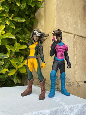 X-Men's Gambit & Rogue Marvel Resin Figures by Chappell x Mahalo Cabin