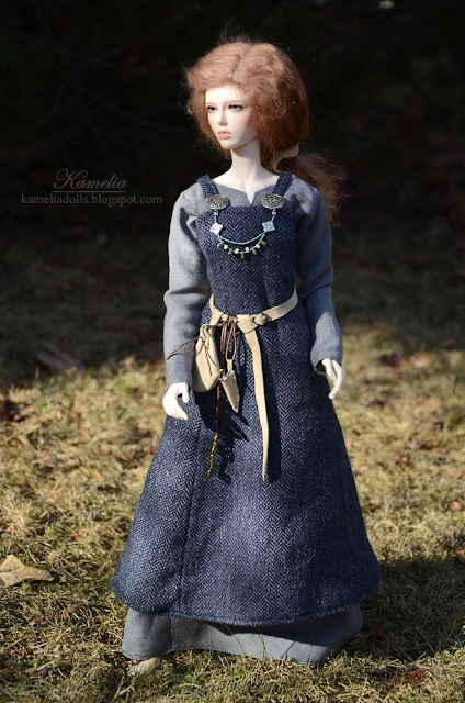 Viking dress for BJD doll
