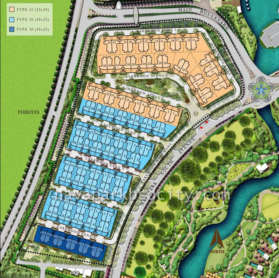 Siteplan Cluster Lakewood NavaPark BSD