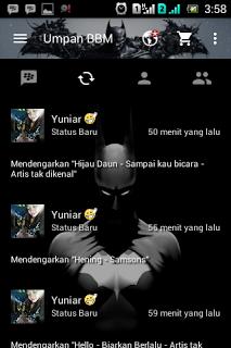 BBM MOD Tema Batman based v.2.13.1.14 Apk Terbaru