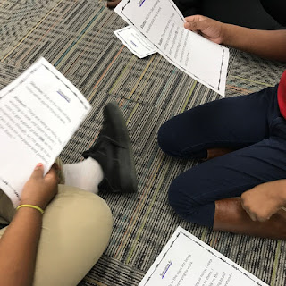 Students practicing self-talk to help ignore distractions