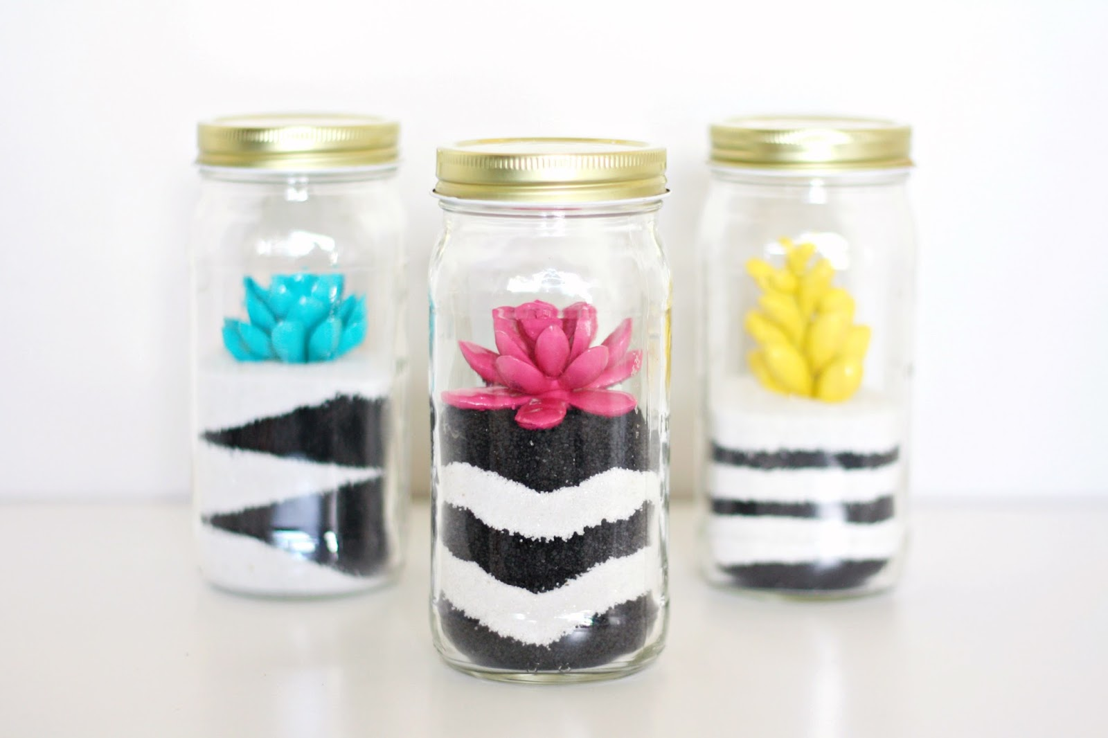 Diy Sand Art Painted Succulent Terrariums The Pretty Life Girls