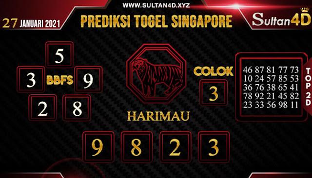 PREDIKSI TOGEL SINGAPORE SULTAN4D 27 JANUARI 2021