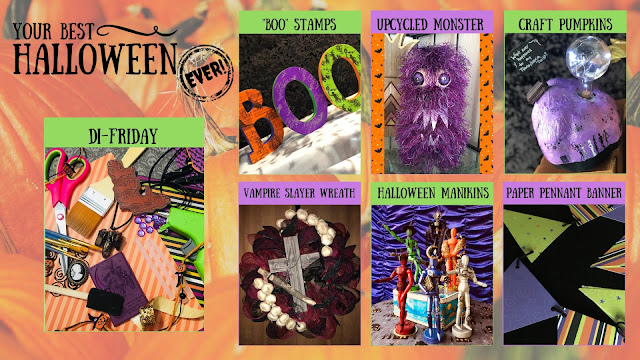 Your Best Halloween Ever, DIY Friday Year One Recap, best easy Halloween craft decoration project