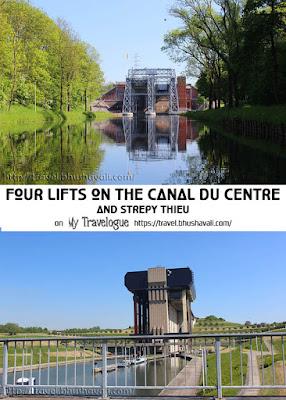 Four Historic Boatlifts on canal du centre UNESCO Belgium