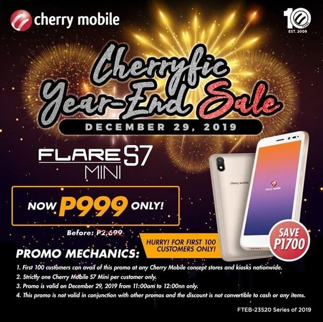 Cherry Mobile Flare S7 Mini For Only Php999 This December 29